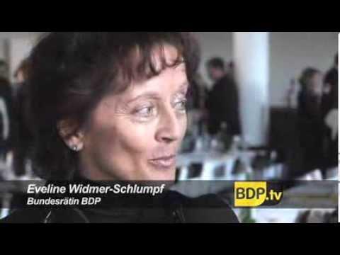 BDP-Präsident Hans Grunder und Bundesrätin Eveline Widmer-Schlumpf zum Jubiläum