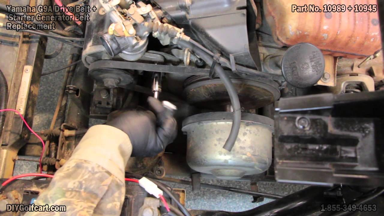 Yamaha G2, G9 Drive and Starter Belt Replacement | How to Install on Golf Cart  YouTube