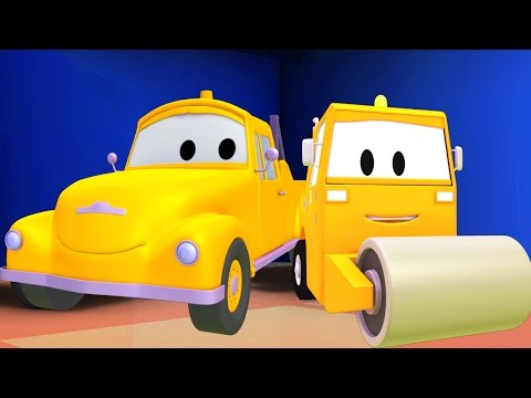Tom The Tow Truck and the Steamroller in Car City | Trucks cartoon for kids