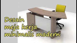 Harga Dan Gambar Desain Meja Kerja Minimalis Modern
