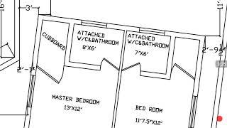 28 × 60 cross Odd plot house plan map naksha