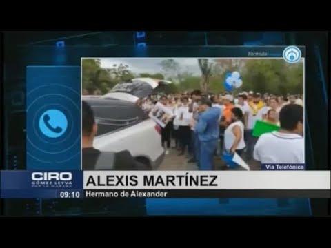 """""""No había ningún retén y policía intentó sembrarle un arma"""": Hermano de Alexander"""