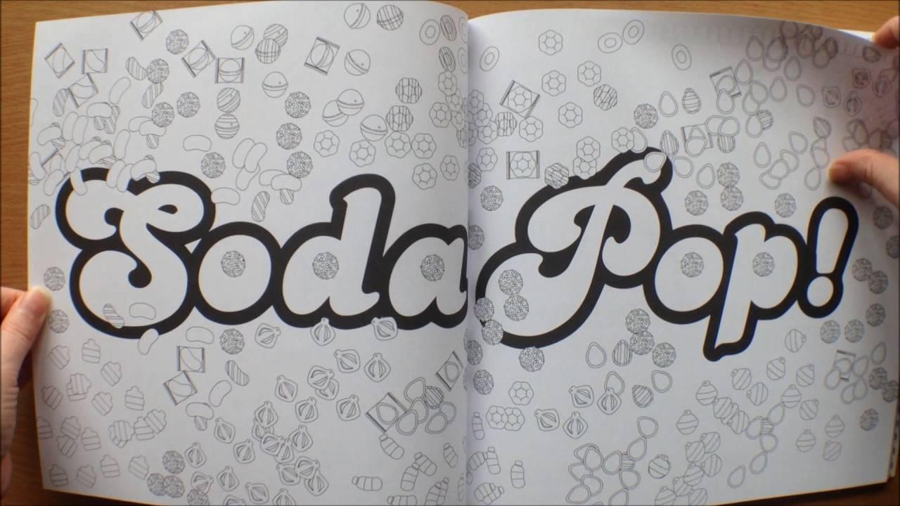 The Candy Crush Soda Saga Colouring Book Flipthrough - YouTube