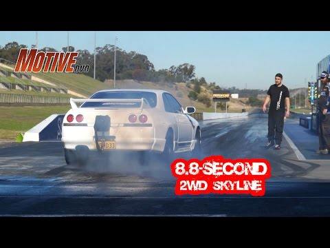 Assaf's ADHD R33 from Maatouk's Racing 8.8@159 - Australia's Fastest 2WD Skyline Street Car