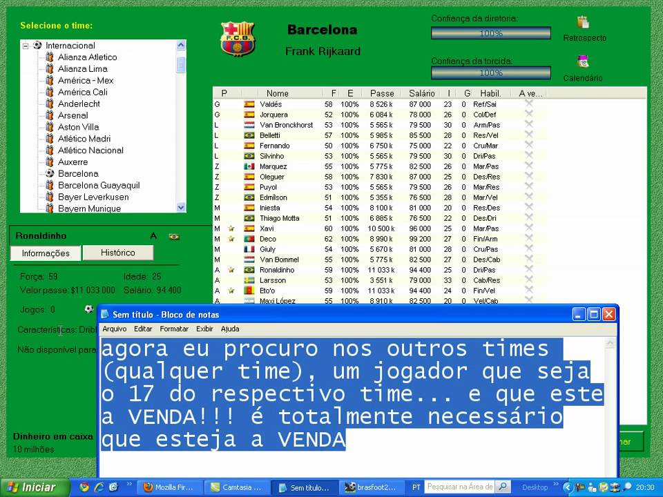 o jogo brasfoot 2005