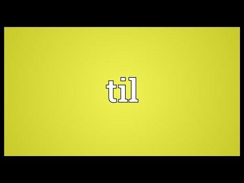 Til Meaning