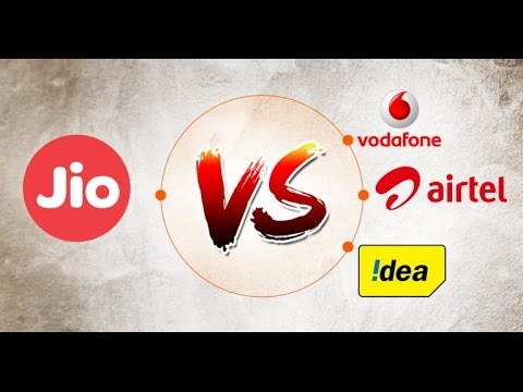 Jio Vs airtel, vodafone and BSNL .. lets have a look which one is the best
