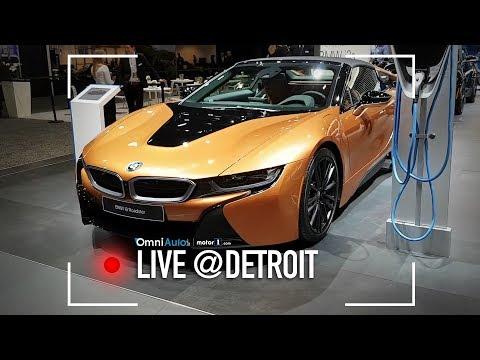 BMW i8 roadster: senza tetto, ma sempre ibrida | Salone di Detroit 2018