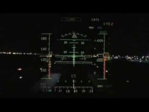 ILS Landing A330 - PFD and Windshield View
