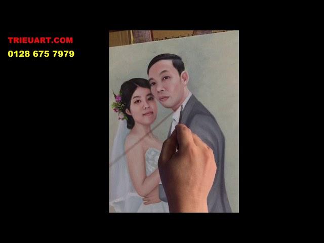 vẽ chân dung sơn dầu chất lượng cao - trieuart com