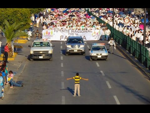 Boy Stands For Gay Rights In Mexico