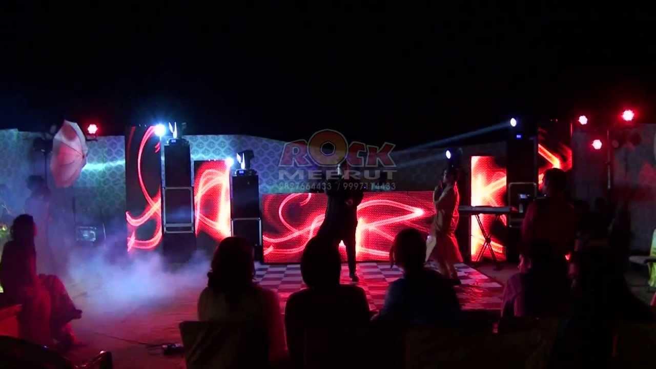 DJ ROCK MEERUT DESIGNER LED VIDEO WALL DJ SETUP YouTube