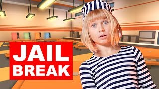 Lara Escapes ROBLOX Jail and Box Fort: Roblox JAILBREAK In Real Life - Part 2