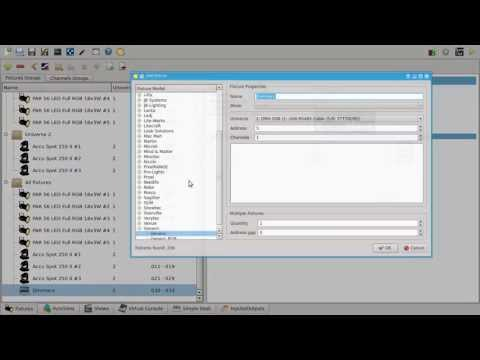 QLC+ Video Tutorial #2 - Fixtures and channel groups