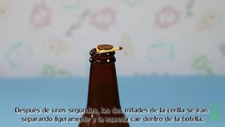 Cerilla móvil. Experimentos (Divertiaula). Capillary action experiment.