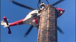 Dixon's chimney rescue in north England fails; Man dies hanging upside