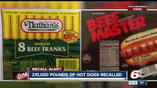 John Morrell recalls 210,606 pounds of Nathan's, Curtis hot dogs o