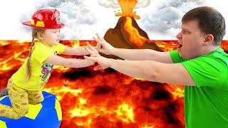Пол это лава от Милли | Челлендж Пол это лава от Лайк Настя | The Floor is lava