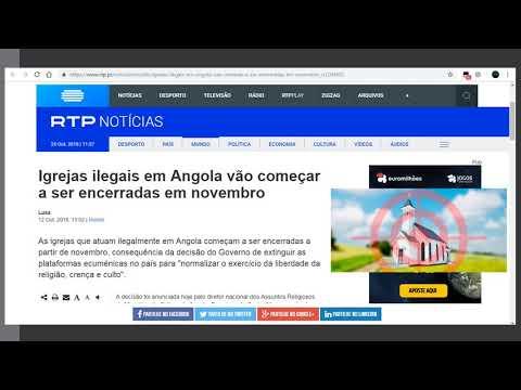 RTP Notícias | Igrejas ilegais em Angola vão começar a ser encerradas em novembro