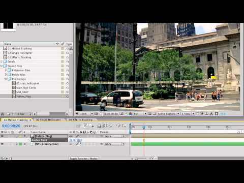 After Effects CS3 Advanced Motion Tracking - Tracking Controls