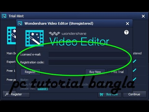 how to register wondershare video editor