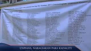 UNPians, Naragsakan Para Kadagiti Criminologist Board Passers