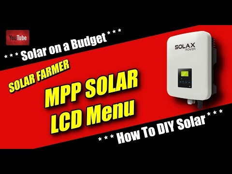 MPP SOLAR...Off Grid Hybrid - the menu.