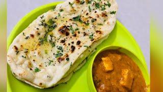 Homemade garlic naan bread recipe on tawa    & paneer recipes..!