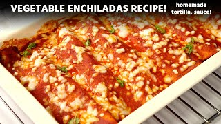 Veg Enchiladas Recipe - From Scratch With Tortilla & Sauce | Indian Restaurant Style CookingShooking