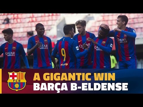 [HIGHLIGHTS] (2aB) FC Barcelona B 12 – Eldense 0
