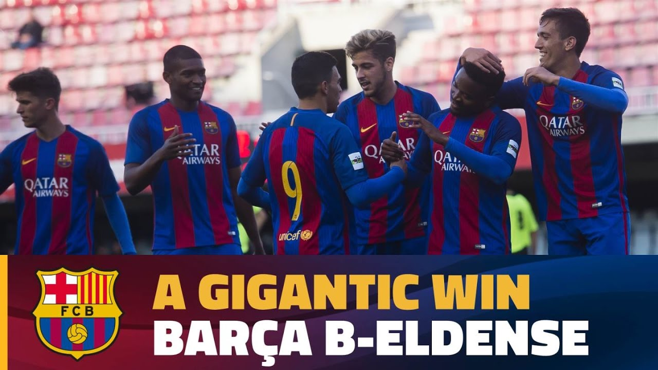 HIGHLIGHTS] (2aB) FC Barcelona B 12 – Eldense 0 - YouTube