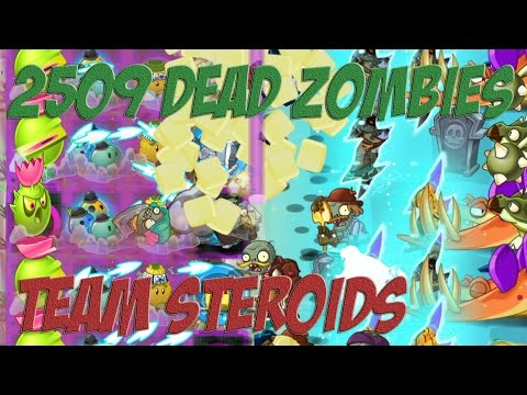 Plants vs Zombies 2 Epic Hack : 2,509 Dead Zombies vs Team Steroid (Homing T, Kernel P & Bowling B)