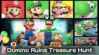 Super Mario Party Mario and Luigi vs Wario and Yoshi #24