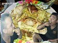 กินข้าว แกงหวาย ส้มตำปูนา ไส้กรอก แกงส้มกุ้ง ทอดไข่