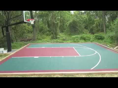 VersaCourt Installation- Backyard Basketball Court