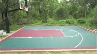 How much does versacourt cost for Home basketball court cost