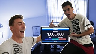 one million subscribers my reaction