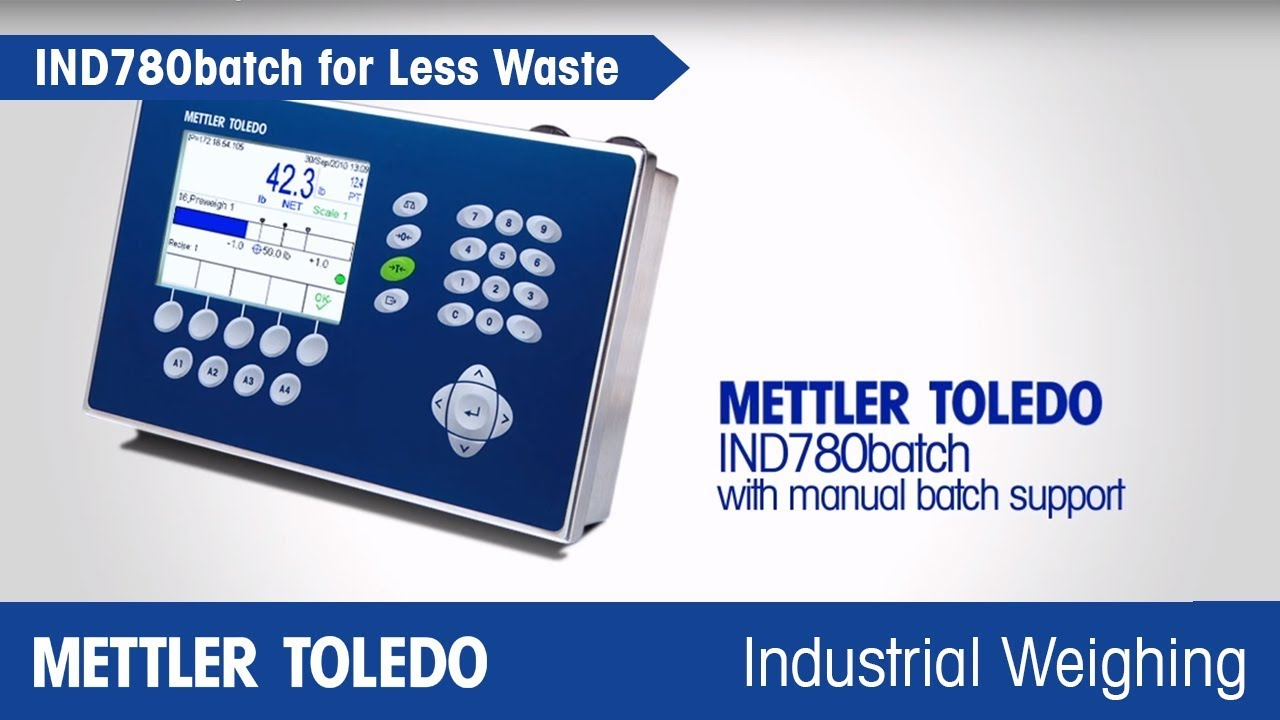 How IND780batch Improves Accuracy in Manual Batching - METTLER TOLEDO - en