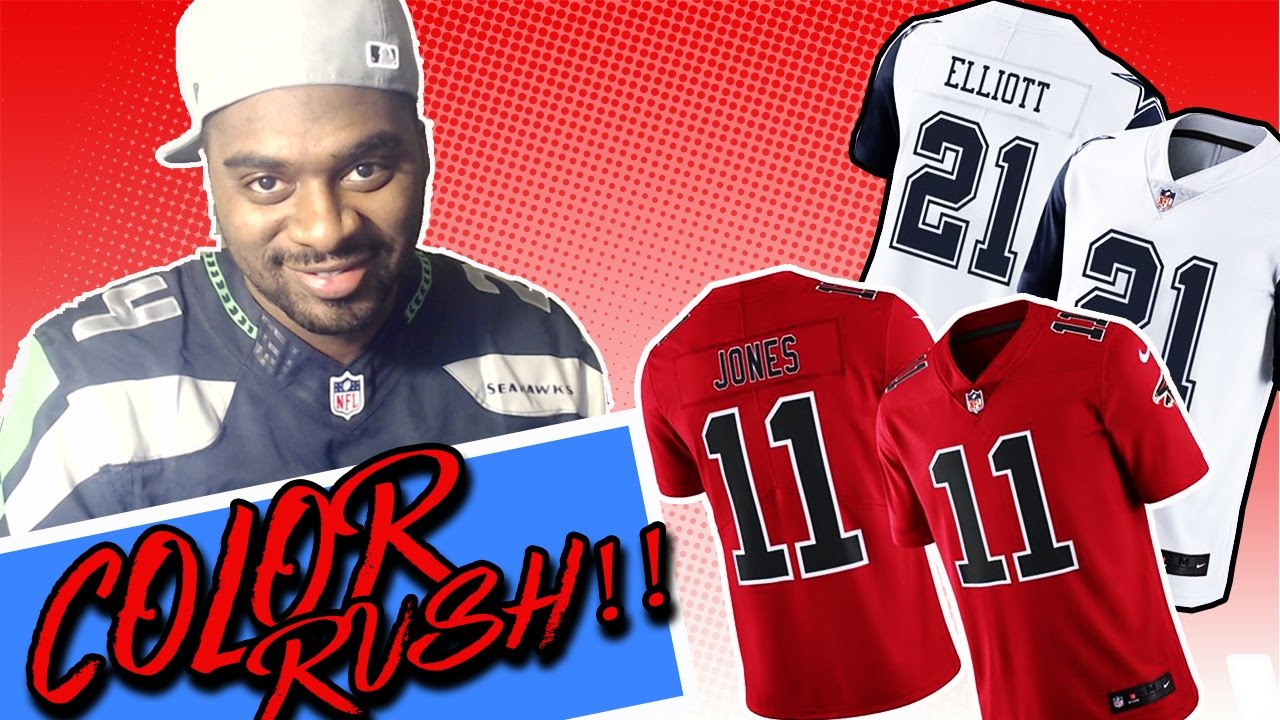 a6ab82809 NEW COLOR RUSH JULIO AND ZEKE JERSEYS REVIEW - YouTube