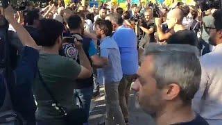 Video - İstanbul'da Suriyelilere destek eyleminde gerginlik