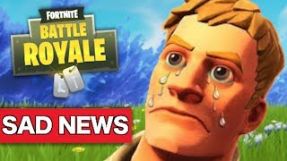 SAD NEWS for Fortnite players & gameplay problems??