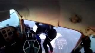 2 Plane crash with skydivers