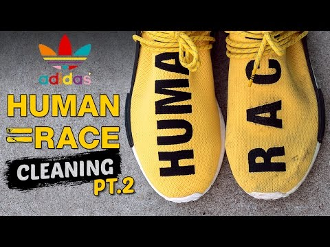 The Best Way to clean Adidas Yellow Human Race NMD's