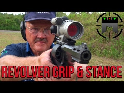 How to shoot a Revolver with world record shooter, Jerry Miculek! (handgun grip & stance)