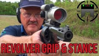 How to shoot a Revolver with world record shooter, Jerry Miculek! (handgun grip & stance) thumbnail