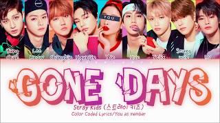 Gambar cover Stray Kids (스트레이키즈) — 'Mixtape : Gone Days' (9 (10) Members ver.) (Color Coded Lyrics Han Rom Eng)