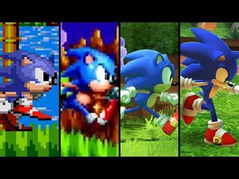 Evolution of Sonic the Hedgehog (1991 - 2018)