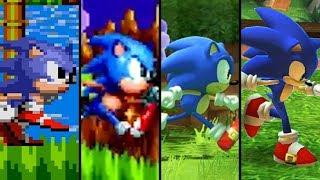 evolution of sonic the hedgehog 1991   2018