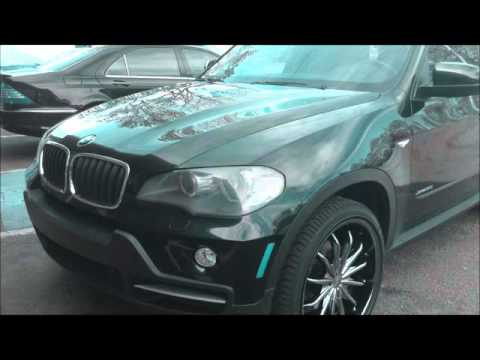 2009 BMW X5 Rolling out Rimtyme of Charlotte sitting on 22'' Milanni Wheels