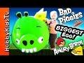 Worlds Biggest King Pig Angry Bird Surprise Egg! Toys Bad Piggies Hobbykidstv video